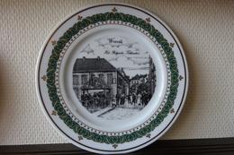 * Wervik (Menen - Ieper - Leie) * 6 Unieke Borden Wervik (Menen) Porselein (SWAENEPOEL) IEPER - Ceramics & Pottery
