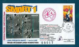 ESPACE - 2006/09 -  Sonde SMART 1 - écrasement Sur La Lune - CSG - 1 Document - Europa