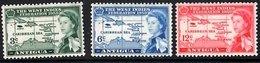 ANTIGUA 1958 QEII Caribbean Federation Complete Set Of 3 Values Mint - Antigua & Barbuda (...-1981)