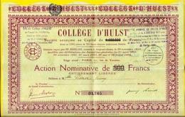 ACTION COLLEGE D'HULST 75004 75007 PARIS 78 VERSAILLES 91 BRUNOY 36 CHATEAUROUX - LA MANOUBA ... - Zonder Classificatie