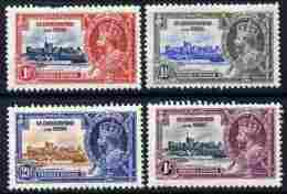 91153 St Kitts-Nevis 1935 KG5 Silver Jubilee Set Of 4, Mounted Mint SG 61-4 (castles) - St.Kitts And Nevis ( 1983-...)