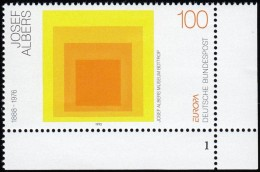 GERMANY - Scott #1784 Europa '93: Hommage To The Square By Joseph Albers (1) / Mint NH Stamp - 1993