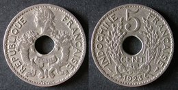 INDOCHINE  5 Cent 1923  FRENCH INDOCHINA  FRANCE Colonie  PORT OFFERT - Camboya