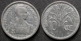 INDOCHINE  10 Cent 1945  FRANCAISE  INDOCINA  INDOCHINA  PORT OFFERT - Cambodia