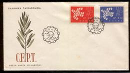 GREECE 1961 EUROPA CEPT MICHEL Nr(s). 775-776 FDC - Greece