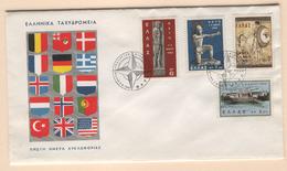 GREECE 1962 NATO MICHEL Nr(s). 792-795 FDC - Greece