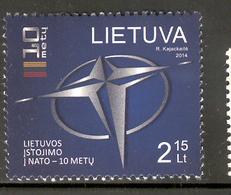 LITHUANIA 2014 NATO Scott Nr(s). 1021 MNH - Lithuania