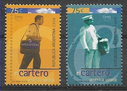 JLK-48 ARGENTINA ARGENTINE 1998 UPAEP AMERICA POSTMEN  YV 2015-6 Mi 2401-2 MNH - Argentine