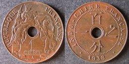 INDOCHINE  1 Cent 1938  INDOCINA  INDO-CHINA    PORT OFFERT - Cambodge