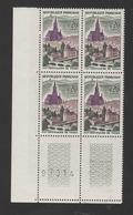 FRANCE / 1961 / Y&T N° 1308 ** : Thann X 4 En CdF - Gomme D'origine Intacte - Nuovi