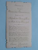 """Première COMMUNION """" Emma GHIJSSELINCKX """" Chapelle Dames De Marie à ALOST 19 Mei 1902 ( Details - Zie Foto ) ! - Comunión Y Confirmación"""