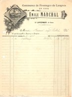 MARCHAL  Commerce De Fromages De Langres   LAVERNOY  52     Belle Illustration          1902 - France