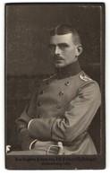 Fotografie Jean Baptiste Feilner, Oldenburg I. Gr., Offizier In Uniform Mit Monokel - Krieg, Militär