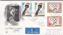Ghana FDC 1960 Olympic Games Rome  (DD20-26) - Sommer 1960: Rom