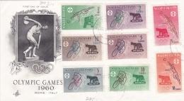 Maldive Island FDC 1960 Olympic Games Rome  (DD20-26) - Sommer 1960: Rom