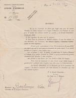 Grande Chancellerie Légion Honneur /1938 / Demande Documents - Army & War