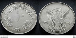 SUDAN - 10 Giursh - KM 59.1 - 1975 - XF - RARE - Sudan