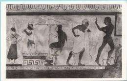 Firenze Museo Archeologico Pittura Etrusca Del V Sec. Tomba Della Scimmia Chiusi Alinari - Musei