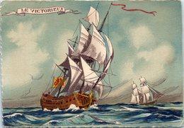 """Bâteaux - Voiliers - """"Le Victorieux """" Illustrateur M. Barré & J. Dayez - Voiliers"""