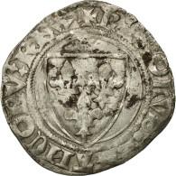 Monnaie, France, Charles VI, Blanc Guénar, Sainte-Ménéhould, TTB, Billon - 1380-1422 Charles VI Le Fol