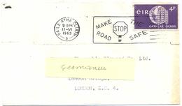 IRLANDE BAILE ATHA CLIATH O.Mec 11-VI 1963  MAKE THE / STOP / ROAD SAFE - 1949-... République D'Irlande