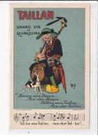 PUBLICITE Illustrée Par MICH Pour Le Grand Vin Au Quinquina TAILLAN à CETTE (SETE) (chien) - Très Bon état - Mich