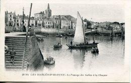 N°63905 -cpa Les Sables D'Olonne -le Passage Des Dables à La Chaume- - Sables D'Olonne