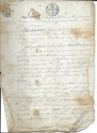 """TIMBRE 75C 1821 50C EN SUS LOI DE 1816 """"LOUIS PAR LA GRACE DIEU ROI DE FRANCE"""" (4 PAGES - Ref1815210705) - Revenue Stamps"""