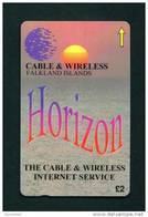 FALKLAND ISLANDS - Magnetic GPT Phonecard/Horizon Issue/Tirage 1000 Pieces - Falkland Islands