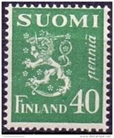 FINLAND 1930 40p Groen Leeuw Type II PF-MNH - Finnland