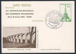 France Rep. Française 1983 Card / Karte / Carte Postale - Étang Reine Blanche - Chemin De Fer /Railway Bridge / Brücke - Treinen