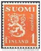 Finland 1930 1.00mk Oranje Leeuwen Type II PF-MNH-NEUF - Neufs