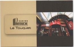 Carte (de Visite) : Casino Partouche Le Touquet CP 62520 - Cartes De Casino