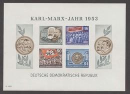 1953, DDR, Karl Marx Block, MiNr. Block 9B, **, Y II - DDR