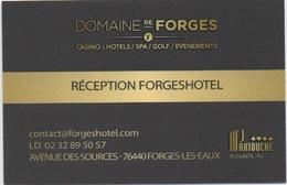 Carte (de Visite) : Domaine De Forges (les Eaux) CP 76440 : Casino - Hôtels - Spa - Golf - Cartes De Casino