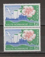 """FRANCE / 1978 / Y&T N° 1992  ** : """"Régions"""" (Haute-Normandie) X 2 En Paire - Gomme D'origine Intacte - France"""