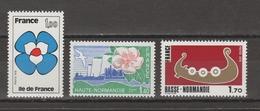 """FRANCE / 1978 / Y&T N° 1991/1993 ** : """"Régions"""" (IDF + Haute & Basse Normandie) - Gomme D'origine Intacte - Nuovi"""