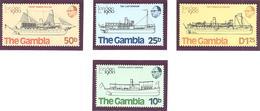 Gambie: Yvert N° 407/410**; MNH; Bateaux - Gambie (1965-...)