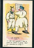 CPA - Garde à Vos! - Illustration - LA VISITE - Humoristiques