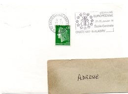 FAUNE / ABEILLE = 92 CHATENAY MALABRY 1974 = FLAMME SECAP  Illustrée De 12 ABEILLES' SEMAINE EUROPEENNE ' - Marcofilia (sobres)