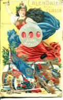 N°63932 -cpa Calendrier De La Classe - Cartoline Con Meccanismi