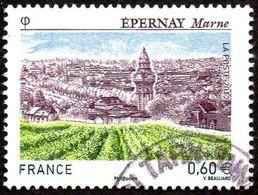 France Oblitération Cachet à Date N° 4645 - Site - Epernay - Champagne - Les Vignes - Used Stamps