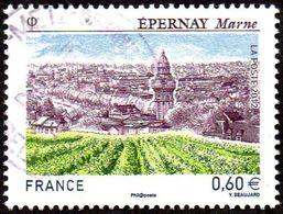 France Oblitération Cachet à Date N° 4645 - Site - Epernay - Champagne - Les Vignes - 2010-.. Matasellados