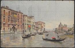 VENETO - VENEZIA - CANAL GRANDE - FORMATO PICCOLO - VIAGGIATA1922 FRANCOBOLLO ASPORTATO - Venezia