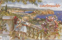 MONACO MONTE CARLO VUE GENERALE DESSINATEUR SUPERBE - Monte-Carlo