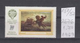 37K137 / 1968 - Michel  Nr. 2676 - Hunting Congress In Mamaia Art N.I. Grigorescu  - ** MNH Romania Rumanien - 1948-.... Republics