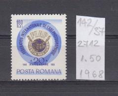37K142 / 1968 - Michel  Nr. 2712 - International Federation For Photographic Art  -  ** MNH Romania - 1948-.... Republics