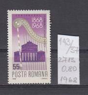37K143 / 1968 - Michel  Nr. 2713 - George Enescu Philharmonic Orchestra   -  ** MNH Romania - 1948-.... Republics