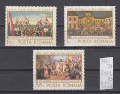 37K144 / 1968 - Michel  Nr. 2721/23 - Union With Transylvania 50 Years D. Stoica Th. Aman -  ** MNH Romania Rumanien - 1948-.... Republics