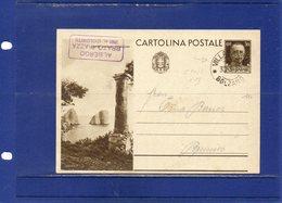 ##(DAN187/1)-Cartolina Postale Cent.30 Serie Turistica -Capri Viaggiata Da Villabassa (Bolzano)   Per Brunico - 1900-44 Vittorio Emanuele III